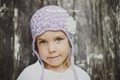 Purple Girls Hats Toddler Earflap Hat for by PBlossomBoutique, $35.00