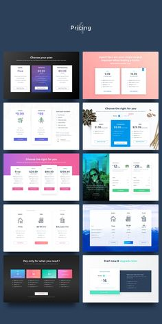 UI Kits for Landing Pages by Gris Fox on Creative Market - UI Kits - Ideas of UI Kits - UI Kits for Landing Pages by Gris Fox on Creative Market Fashion Web Design, Web Design Tips, Web Design Services, Design Websites, Ui Kit, Web Layout, Layout Design, Footer Design, Website Layout