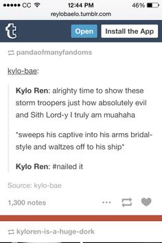 It was a surprisingly gentle gesture that I was not expecting. I like how contradictory they made Kylo in this movie.