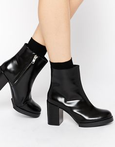 Cheap Monday Layer Leather Ankle Boots