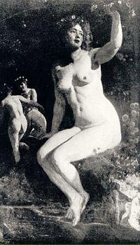 Kupala  Origem: Wikipédia, a enciclopédia livre.      Kupała, Wojciech Gerson, 1897  Na Mitologia Eslava, Kupala é a deusa polonesa das ervas, feitiçaria, sexo e do verão. Ela é também a Mãe d'Água, associada às árvores, ervas e flores. Sua celebração ocorre durante o solstício de verão