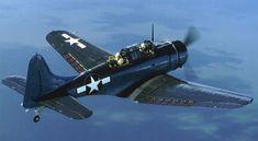 """DOUGLAS SBD """"DAUNTLESS"""",El SBD Dauntless fue un bombardero norteamericano naval en picado realizado por Douglas durante la Segunda Guerra Mundial. Era llamado por los pilotos """"lento pero mortal""""."""