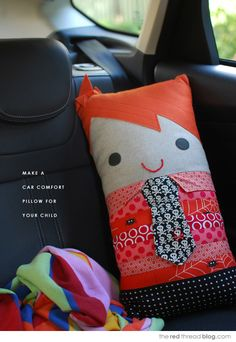 Make a travel pillow softie for your child to cuddle | the red thread :: create, inspire, share