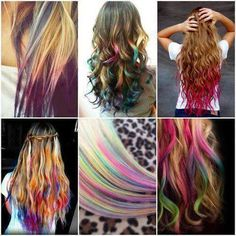 Colorful hair chalk
