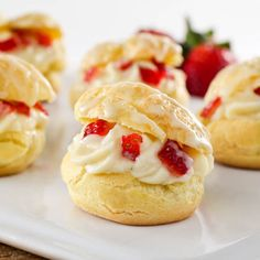 Strawberry Orange Cream Puffs - Evil Shenanigans
