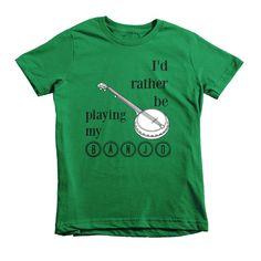 I'd Rather Be Playing My Banjo Kids' Shirt