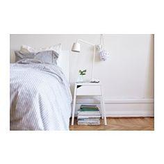 SELJE Nattbord med trådløs lading, hvit - 46x37 cm - IKEA