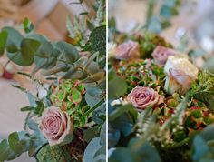 Walton Hall Wedding Flowers Green & Dusky Pink ~ Rustic Glamour