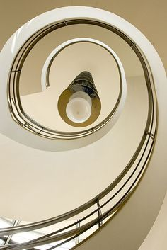 Spiral Staircase at the De La Warr Pavillion in bexhill-on-Sea, Sussex