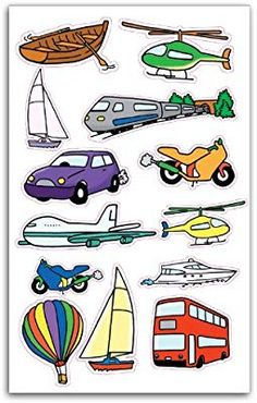 The Transportation Clip Art Set Art Activities For Toddlers, Preschool Learning Activities, Preschool Themes, Preschool Kindergarten, Preschool Art, Book Activities, Transportation Theme Preschool, Kids And Parenting, Education