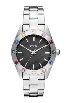 DKNY 'Nolita' Carousel Crystal Bezel Bracelet Watch   Nordstrom
