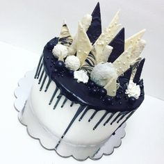 Black and white drip cake Katherine Sabbath inspiration