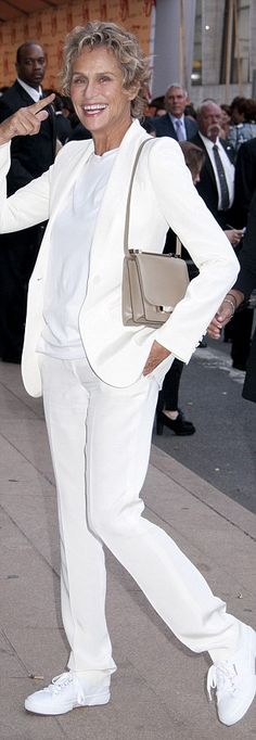 Lauren Hutton's entire outfit @ CFDA