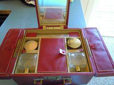 #Vintage #Train Case by Trip Made #NewYork Red by TallulahsVintage, $95.00 #teamsellit