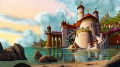 Disney challenge day favorite castle: prince Eric and Ariel's castle Disney Animated Movies, Film Disney, Disney Songs, Disney Movies, Disney Wiki, Casa Disney, Disney Home, Disney Art, Disney Magic
