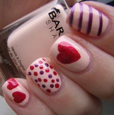 valetines day nails | ... Cosmetic Hoarders Unite!: Valentine's Day Nail Art with Barielle