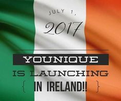 So excited that Younique is launching in Ireland on 1st July 2017! Message me for more details