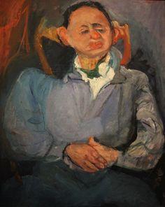 Chaim Soutine - Portrait of Sculptor Miestchaninoff, 1923 Pompidou Center, Paris. Artist Painting, Painting & Drawing, Abstract Paintings, Chaim Soutine, Painted Picture Frames, Oil Painting Pictures, Modigliani, Jewish Art, Realism Art