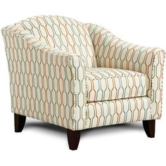 "Tangerine 35"" Pattern Upholstered Accent Chair"