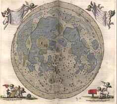 Map of the Moon by Johannes Hevelius dated 1645.