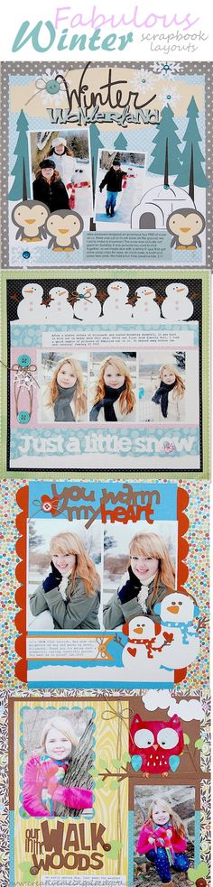 http://creativemeinspiredyou.com/national-scrapbook-day/ Check out these beautiful scrapbook pages, they are fantastic!