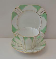 RARE Vintage Art Deco Royal Albert Trio Teacup Saucer Side Plate V G C   eBay