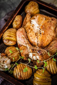 Provençal Roast Chicken with Hasselback Potatoes
