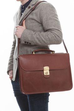 Cathy Prendergast Irish Designer Leather Handbags - Oscar Briefcase   Tan Leather Briefcase Leather Briefcase, Leather Bags, Tan Leather, Designer Leather Handbags, Cool Tools, Leather Accessories, Men's Collection, Irish, Women