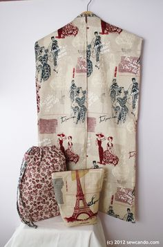 Travel & Garment Bag Sewing Tutorial by Cheryl @ Sew Can Do
