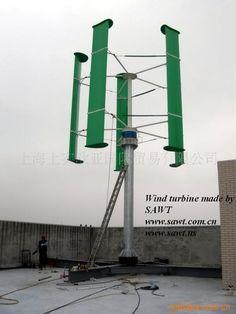Vertical axis wind turbine made by SAWT   www.sawt.us
