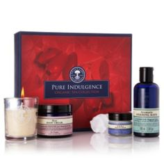 **Pure Indulgence Organic Spa Collection** Our luxuriously pampering collection combines relaxing aromatherapy bathing, our bestselling radiance-boosting organic Wild Rose Beauty Balm with organic muslin cloth, suitable for all skin types, and our seriously decadent Rose Body Cream – infused with the essence of over 150 roses, to relax, revitalise and beautifully scent the skin. -Combined this with the soft flickering...Learn More