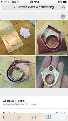 How to make a hollow  ring. - come di fa un anello cavo
