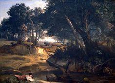 Forest of Fontainebleau-1830-Jean-Baptiste-Camille Corot - Barbizon school - Wikipedia
