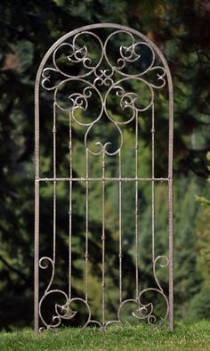 H Potter Large Wrought Iron Ornamental Metal Scroll Garden Trellis ...
