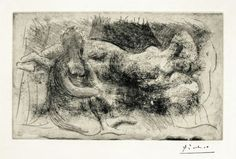 Available for sale from F. Braswell Fine Art, Pablo Picasso, Femme Veillant une Dormeuse Etching, 11 × 7 in Pablo Picasso Cubism, Picasso Prints, Picasso Art, Picasso Paintings, Art Projects For Teens, Georges Braque, Post Impressionism, Artist Painting, Artwork