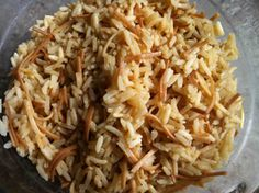 Armenian Rice Pilaf- My grandmother, Queenie Saldorian Jenanyan (Jennings), made the best rice pilaf. My dad continues to use her recipe.