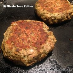 For those days when you have nothing ready to eat...whip up these healthy, delicious tuna patties in 10 minutes or less!