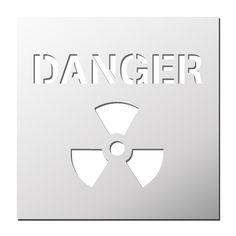 Pochoir Danger Nucléaire