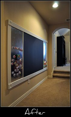 chalkboard/magnet wall for playroom