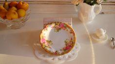 Chelsea Golden  Rose Plate for Dollhouse by Twelvetimesmoreteeny