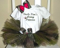 Daddy`s Army Princess Tutu Set (Perfect for Homecomings)-