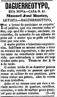 História do Comércio do Centro de São Paulo: Manoel José Bastos, artista daguerreotypo