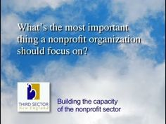 What's the most important thing a nonprofit organization should focus on...