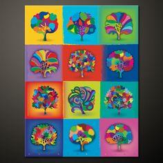 Spring Trees    75 x 100 cm   Kunst Leinwand Druck