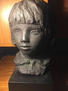 Philadelphia Museum Of Art Reproduction Son Of Renoir Head Sculpture On Base '58