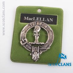 MacLellan Clan Crest Cap Badge. Free worldwide shipping available