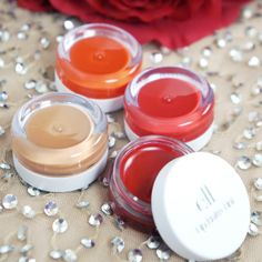 e.l.f. Lip Balm Tint  These are very pigmented, feel great (not sticky) on the lips, and are soooo cheap!