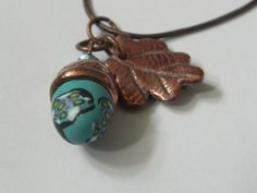 The acorn nut is made from polymer clay. Included is a copper coloured chain , long and a longer open chain for a choice of styling ! Acorn Necklace, Leaf Necklace, Pendant Necklace, Drop Earrings, Crystal Beads, Crystals, Polymer Clay, Jewelery, Copper