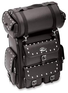 Saddlemen Studded Drifter Deluxe Sissy Bar Bag | 831-676 | J&P Cycles