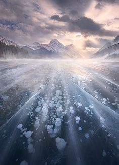 ~~Follow the Wind ~ crepuscular rays winter landscape, Canadian Rockies by Marc Adamus~~